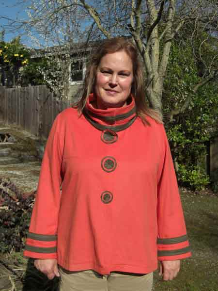 Christine made this cashmere jacket in a sewing workshop with Jane Foster.