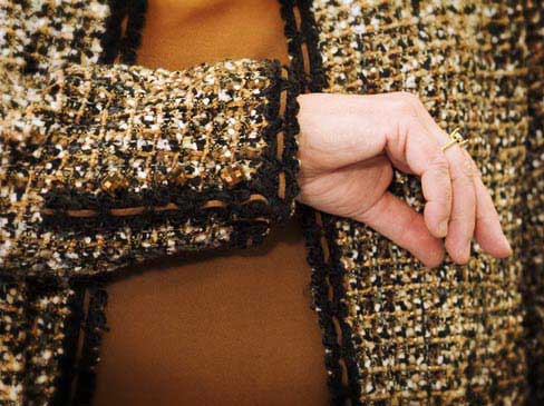 Couture jacket detail