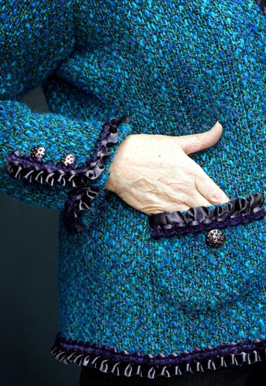 Detail of Jane Foster's Couture Jacket