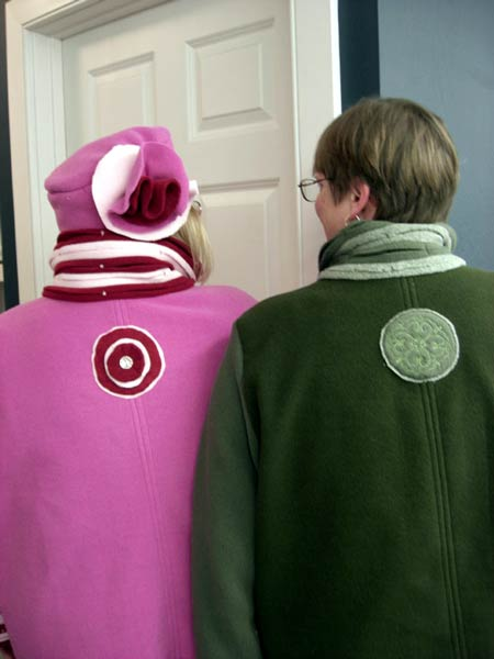 Fleece jackets made in sewing classes