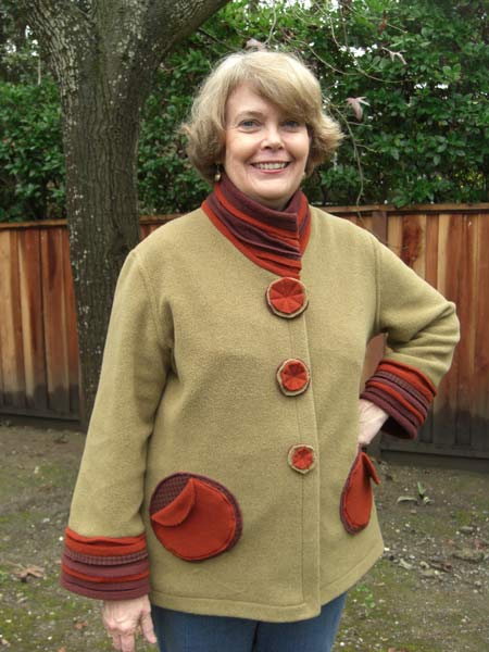 Kathleen's jacket made in the sewing workshop
