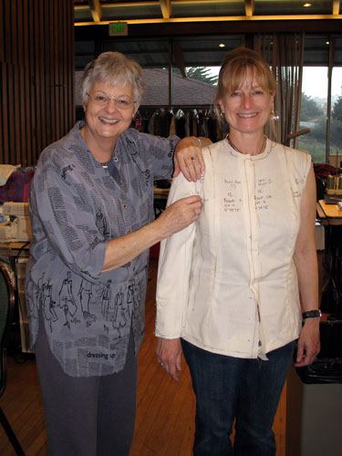 Couture jacket made on sewing retreat with Jane Foster