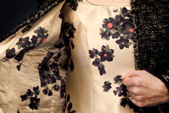 Details of couture jacket