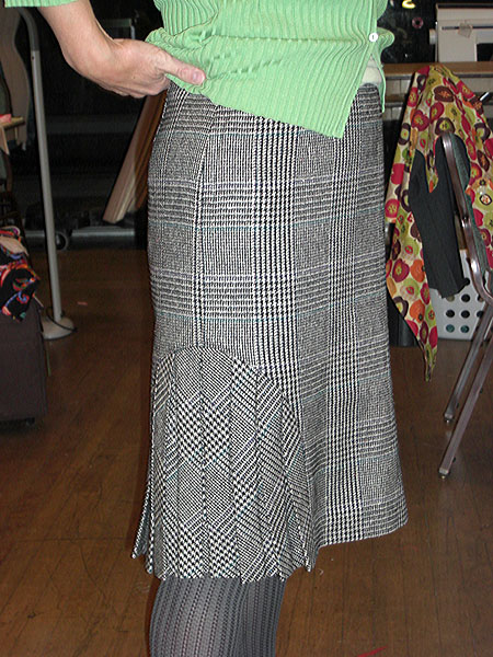 Barbara's skirt made with a Marfy pattern