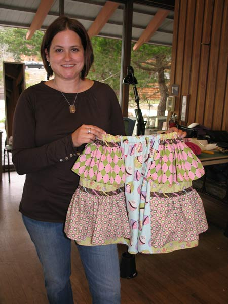 Carie's daughter's skirt