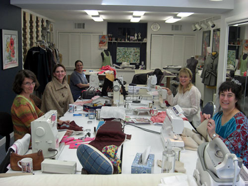 Sewing class in Jane Foster's studio