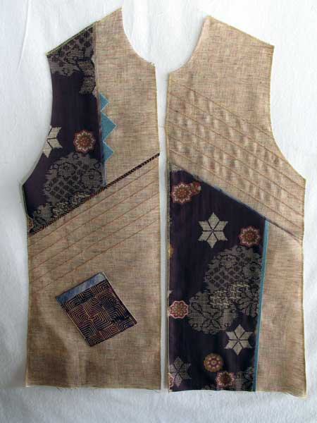 Vest made on sewing retreat in California