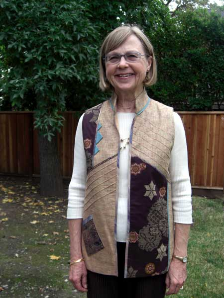 Barb made this vest on her sewing retreat