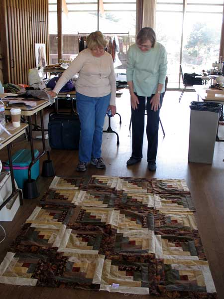 Betty worked on this quilt while on a Sewing Retreat