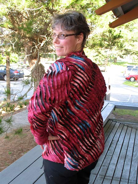 Jasna silk jacket back