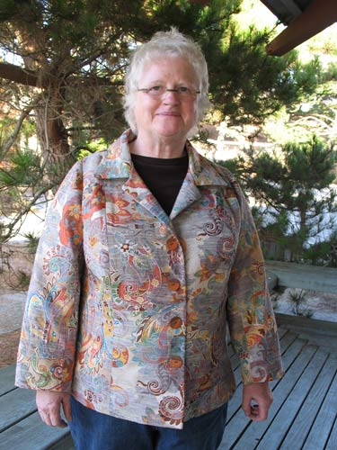 Sharon used her couture jacket pattern
